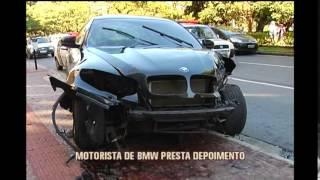 Motorista de BMW que bateu na Pra�a da Liberdade � ouvido na Pol�cia Civil