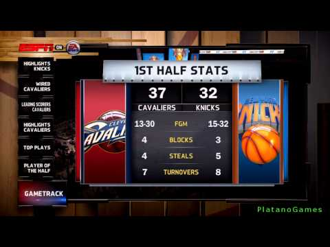 NBA Live 14 PS4 - Cleveland Cavaliers vs New York Knicks - Halftime Highlights Show - HD