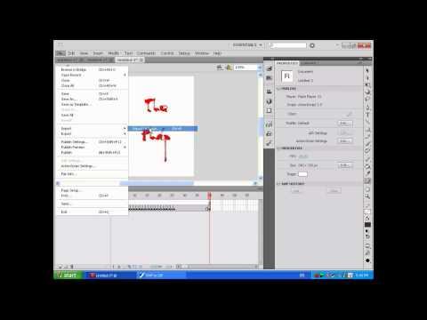 Tạo chữ thư pháp với Adobe Flash.flv