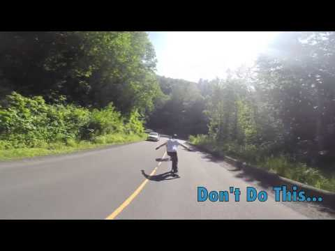 What NOT To Do When Downhill Skateboarding
