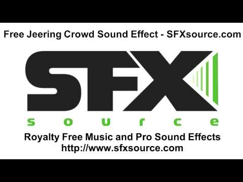 Free Jeering Crowd Sound Effect - SFXsource.com