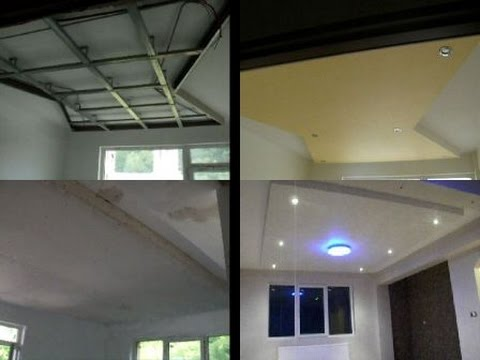 Amenajari interioare living dormitor,montat placa rigips tavan gips carton spoturi luminoase