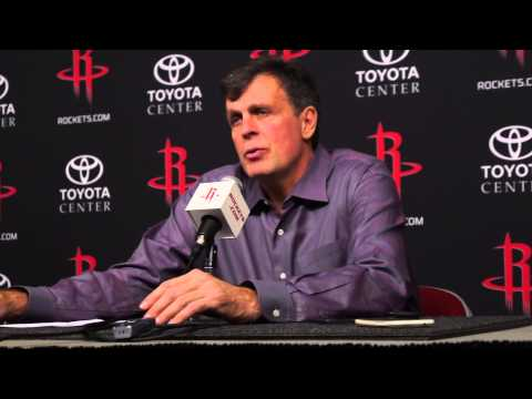 Kevin McHale Interview after the Houston Rockets beat the Boston Celtics 109-85