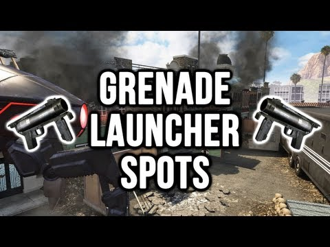 Black Ops 2: Studio Grenade Launcher / Noob Tube Spots (Domination & Search & Destroy Spots)