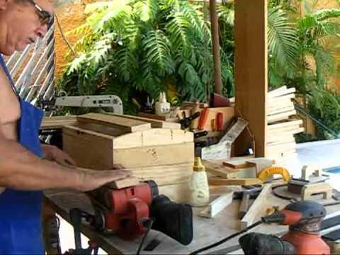 Marcenaria XXV - Baú de madeira reciclada.mkv