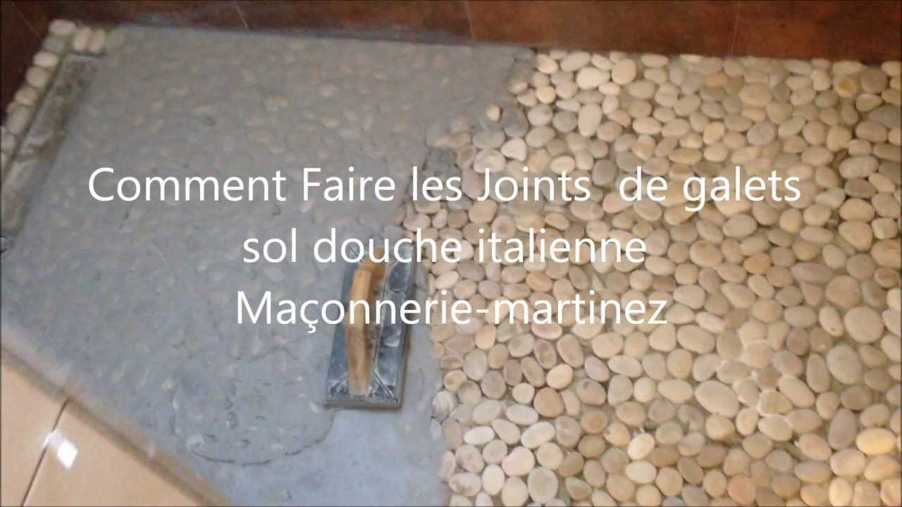 Comment faire les joints de galets sol douche italienne for Photos de douche italienne