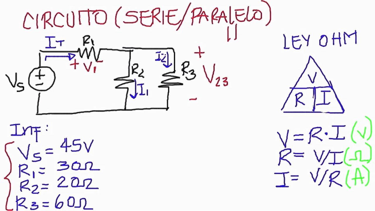 Circuito Seri E Paralelo : Ejercicios de circuitos electricos en serie paralelo y mixto