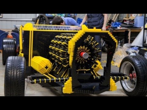Life-size Lego car runs on air