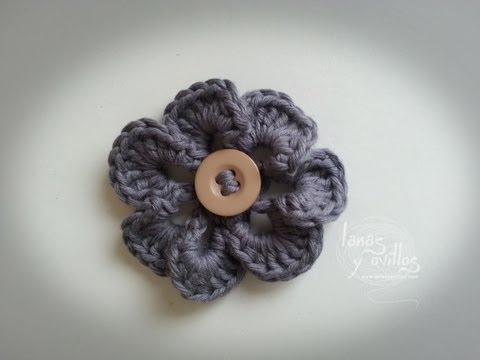 Tutorial Flor Crochet o Ganchillo Flower