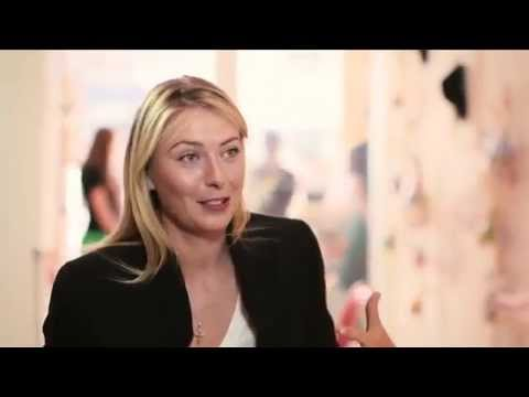 BBC: Maria Sharapova talks to Laura Robson at the Sugarpova Candy Lounge