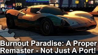Burnout Paradise Remastered - Xbox One X/Xbox One vs Original PC Comparison