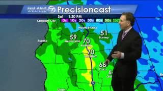 Weathercast KRCR/TV December 2013