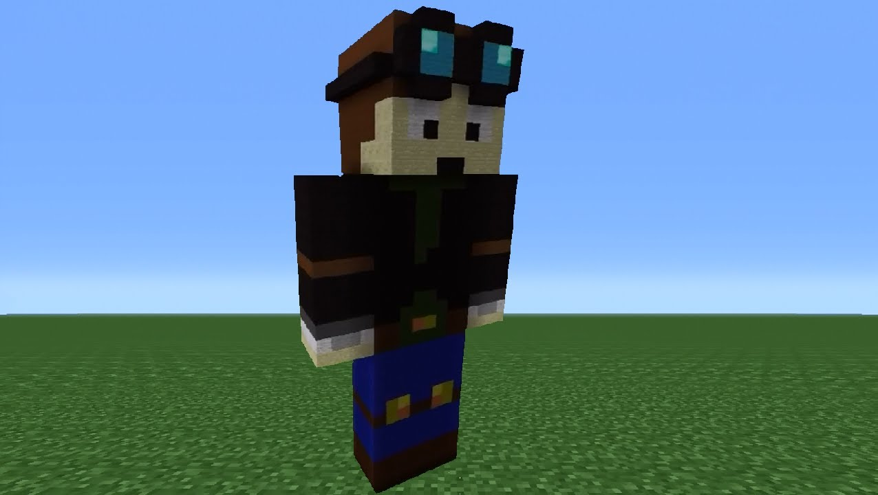 How To Build A Popularmmos Statue In Minecraft