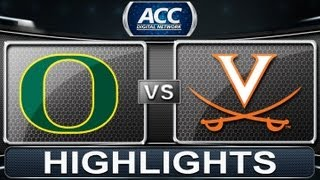 2013 ACC Football Highlights | Oregon vs Virginia | ACCDigitalNetwork