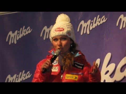 Mikaela Shiffrin speaking German in Sölden • 25.10.13