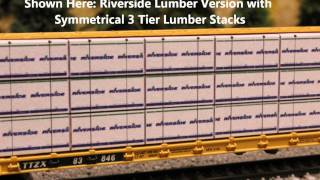N Scale Lumber Loads For Red Caboose Centerbeam Flatcars