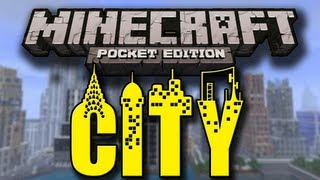 City In Minecraft Pocket Edition W/ Stellar Musical