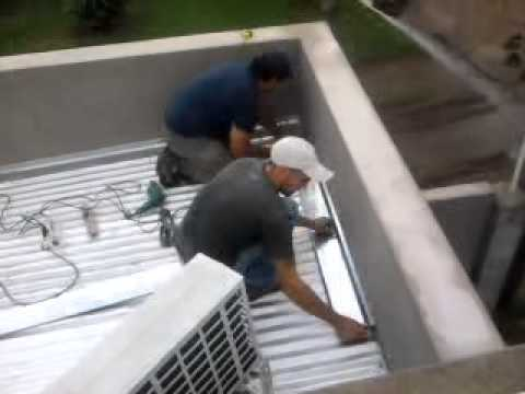 Como colocar telgopor en techo de chapa