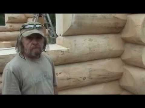 Les maisons de bois rond mahikan youtube for Local technique en bois