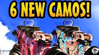 COD Ghosts: All 6 New Camos! Unicorn, Extinction, Fitness