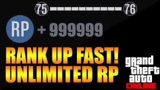 "GTA 5 ONLINE: UNLIMITED RP GLITCH ""RANK UP FAST"" AFTER PATCH 1.08 [REPUTATION GLITCH] [500K+RP/HR]"