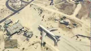 GTA V Boeing 747 Landing At Trevor's Airfield By CaPzOne