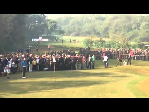 Tiger Woods 5th hole Birdie @ The Delhi Golf Club