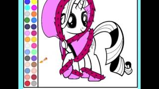 Juego Colorear Rarity My Little Pony