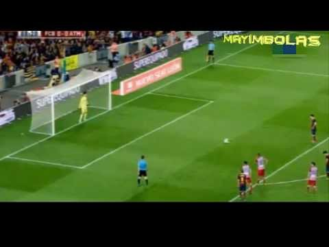 Messi Falla Penal Barcelona vs Atletico de Madrid 0-0 Super Copa de España [28 08 2013]