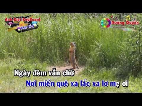 [Karaoke Nhạc Sống 2016] Bóng Dáng Mẹ Hiền - Beat Anh Kiệt - Karaoke by Dương Quyền