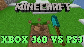 Minecraft PS3 Vs Xbox 360 Console Comparison
