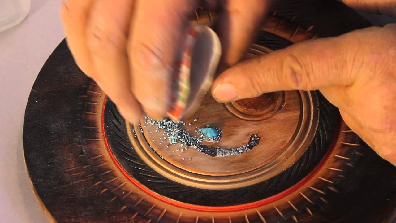 Turquoise Stone Inlay For Wood Projects Youtube