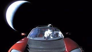 SpaceX Falcon Heavy: 'Starman' puts Earth in the rearview mirror