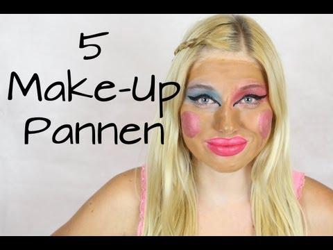 Die 5 schlimmsten SCHMINKPANNEN  / Make Up Don`ts