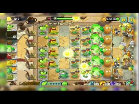 Plants VS Zombies 2 [ Ancient Egypt (Day 3) ]