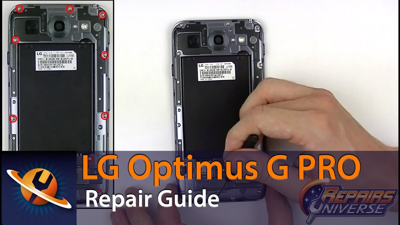 Lg optimus g pro screen replacement repair guide youtube