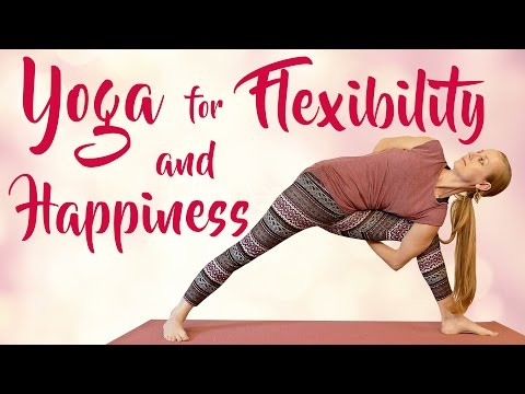 Yoga for Flexibility & Happiness with Meera | 25 Minute Yoga Class for Beginners, Full Body Routine