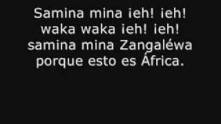 Shakira Porque Esto Es Africa-Lyrics