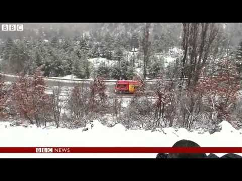 Two killed in Alps train derailment