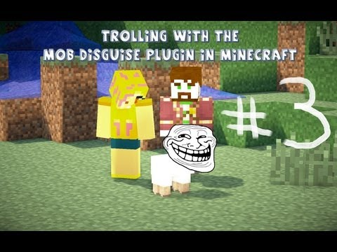 Trolling With The Mob Disguise Plugin On Minecraft Ep:3