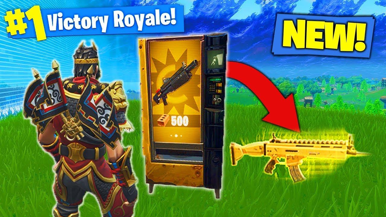 informaciya o video new legendary vending machine gameplay in fortnite battle royale - all fortnite vending machines