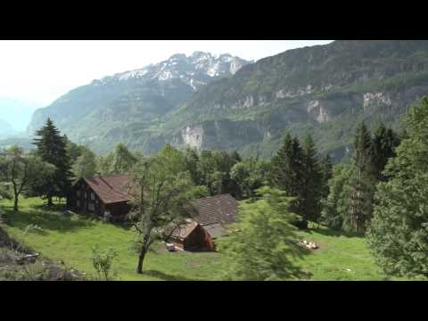 Lucerne to Interlaken Swizerland by train through the Brunig Pass