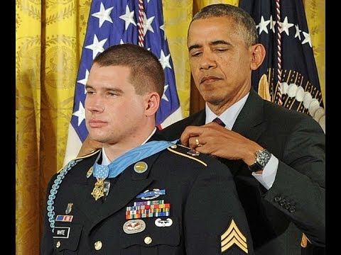 Sergeant Kyle J  White awarded the Medal of Honor by President Obama