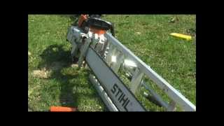 "Chainsaw milling large walnut with Stihl 090 and 48"" Alaskan"