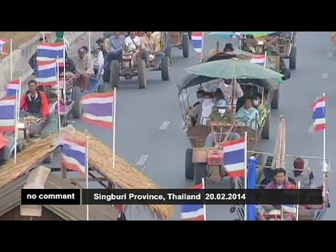 Farmers protest in Bangkok - no comment