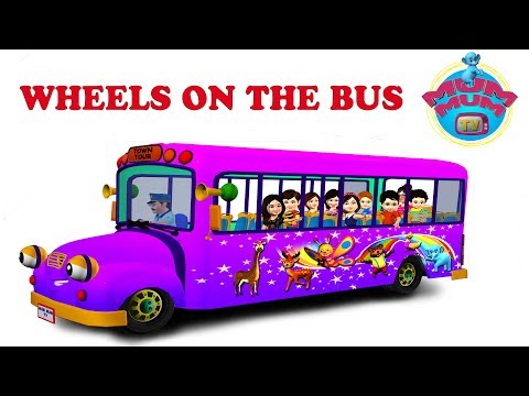 The Wheels On The Bus Nursery Rhymes For Children Video Songs | Lyrics For Kids And Babies