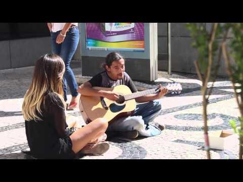 Street Music in Oporto - Carlos Maciel and Carol Curry