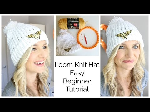 Easy Loom Knit Hat Tutorial - Beginner!!