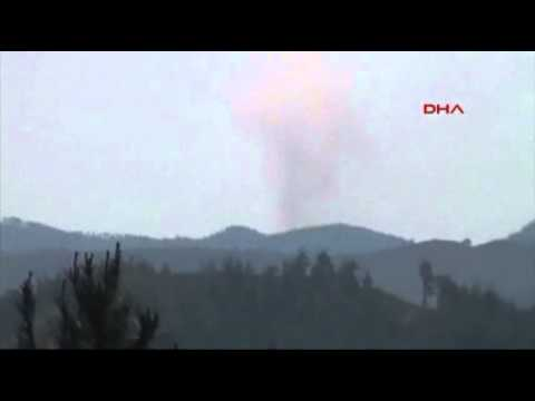 Raw: Syrian Plane Shot Down by Fighter Jets