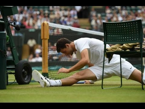 Grigor Dimitrov vs Leonardo Mayer Wimbledon 1/8 Final 2014 Part 2